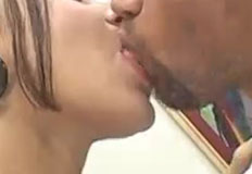 monica beijando o marmanjo