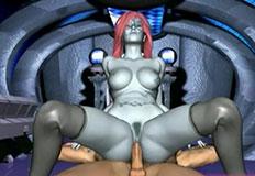 ruiva tarada sentando na rola grande